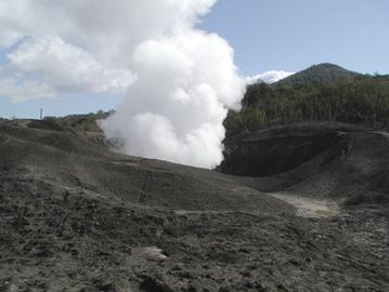西山火口・金比羅遺構散策路オープン