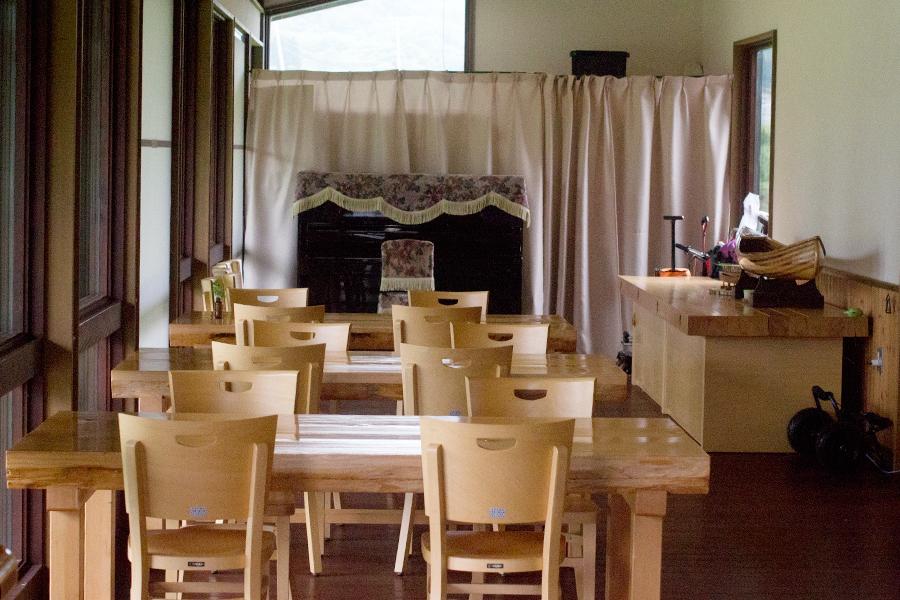 財田キャンプ場にあるカフェ『湖光』