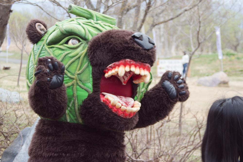 サイロ展望台にメロン熊出現!!