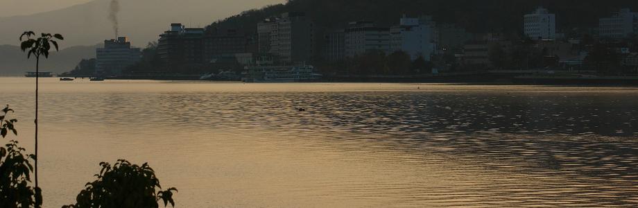 洞爺湖の秋の朝、洞爺湖