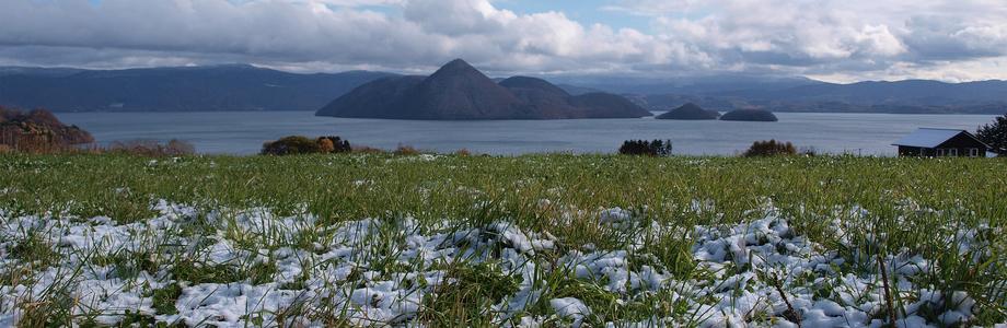月浦からの洞爺湖(冬)、冬、北海道洞爺湖月浦、風景